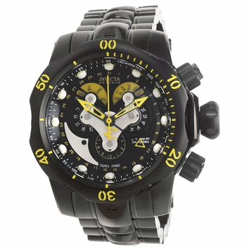 Invicta 14458 Men's Venom Reserve Black Dial Black IP Steel Bracelet Chrono Dive Watch