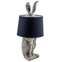 Rabbit Table Lamp in Antique Silver