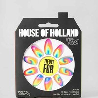 House Of Holland X Elegant Touch Tie Dye For Faux Nail Set- Assorted One
