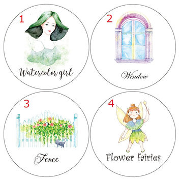 Flower Fairies Watercolor Girl Fence Washi Paper Tape DIY Scrapbooking Adhesive Stickers Decorative Sticker Adhesive Tape