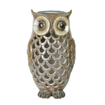 Owl Solar Light Tan