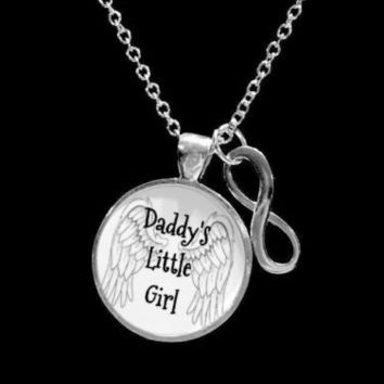 Daddy's Little Girl Infinity Daughter Niece Valentine Gift Necklace