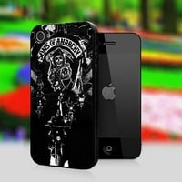Sons Of Anarchy Bikers Skull - Print On Hard Cover For iPhone 5