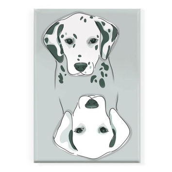 Pop Doggie Dog with Spots or Dog with all The Spots Washed Away Clean Dirty Dishwasher Magnet with Dalmatians