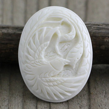 Bird Cameo, Carved Bone