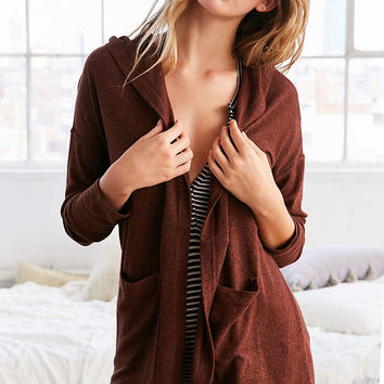 Out From Under Cozy Penelope Hoodie Cardigan - Urban Outfitters