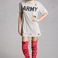 Distressed Army Graphic Top