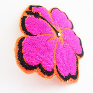 Hibiscus Flower Hair Clip - Womens Hair Accessories - Hair Clips for Women - Hair Clips For Girls - Pink - Fun Back To School Gifts For All