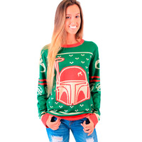 Star Wars Boba Fett Unisex Green Ugly Christmas Sweater