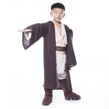 Boys Star Wars Deluxe Jedi Warrior Movie Character Cosplay Party Clothing Costume