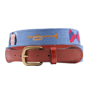 Kentucky Derby Needlepoint Life Belt in Blue by Smathers & Branson