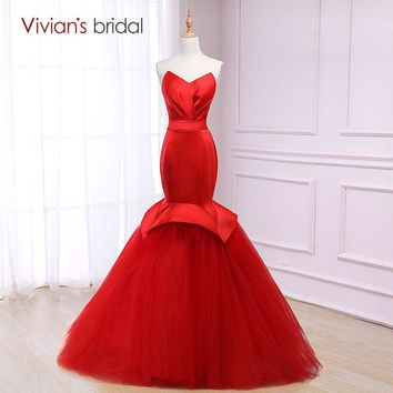 Mermaid Evening Dress Sweetheart Simple Satin Sleeveless Formal Evening Gown Party Dress