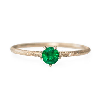 Inishmore Emerald Ring - Rings - Catbird