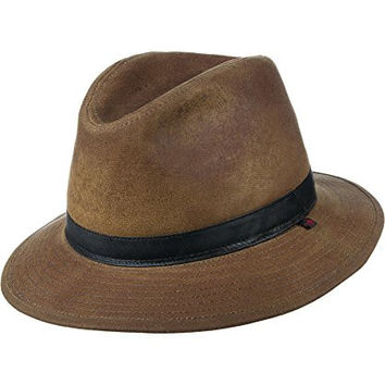 Woolrich Oil Cloth Safari Hat, SADDLE (Brown), Size L