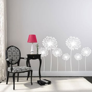 Wall Decals - Dandelion Wall Decal - Flower Wall Decals - Wall Decals for Kids - Kids Wall Decals - Vinyl Wall Decals - Nursery Wall Decals