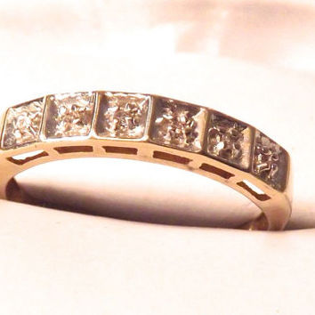 Vintage Diamond Wedding Anniversary Band Ring