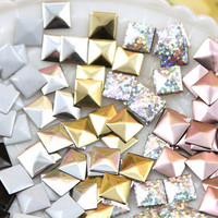 10mm Amazing Hotfix Pyramid Studs 6 Colors to by delishbeads