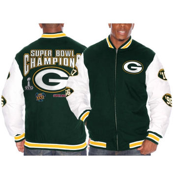 Green Bay Packers Triple Double Commemorative Jacket – Green
