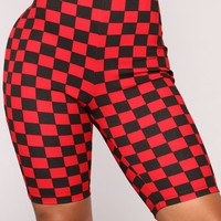 Danica Biker Shorts - Black/Red