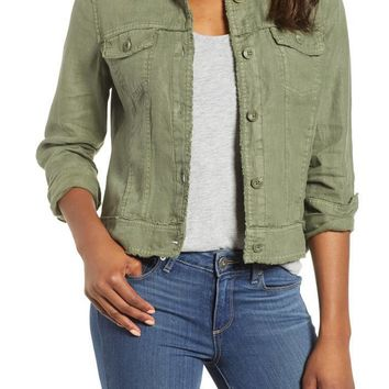 TOMMY BAHAMA 'Two Palms' Linen Raw Edge Jacket Tea Leaf $105