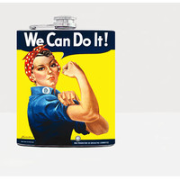 We can do it! Hip flask-Gift for him, for her-Hip flask-Unique gift for men-21st birthday gift-Retro-Vintage-Pin up-Whiskey-Funny