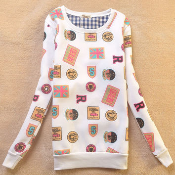 Thicken Hoodies Long Sleeve Strong Character Round-neck Pullover Tops Jacket [9036924748]