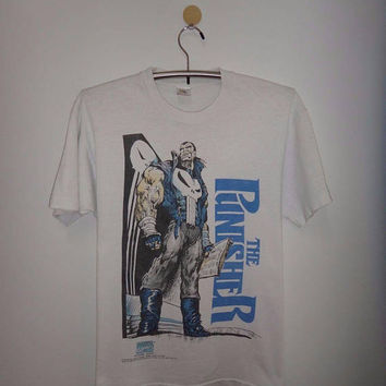 Vintage The Punisher 1992 Marvel Comics T Shirt Superhero Comic Books NY City