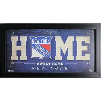 MDIGMS9 New York Rangers 10x20 Home Sweet Home Sign