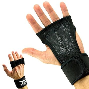 Cross Training Gloves with Wrist Support for Crossfit WODs and Gym Workout
