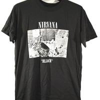 NIRVANA T-shirt, Kurt Cobain, classic Rock, Bleach, Men and unisex t-shirt