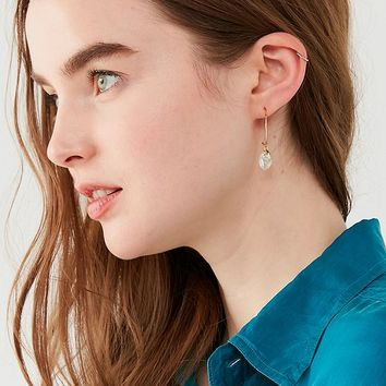Crystal Heart Post Hoop Earring Set | Urban Outfitters
