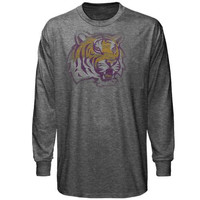 LSU Tigers Fade Out Long Sleeve T-Shirt - Heathered Gray