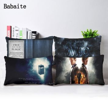 Babaite New Stylish Doctor Who Bedding Set Two Side Pillow Cover Rectangle Throw Pillowcase Zippered Cover
