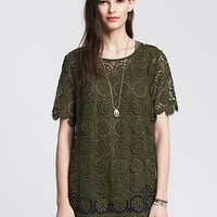 Banana Republic Womens Medallion Lace Top