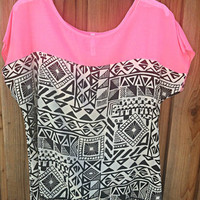 PINK TRIBAL DREAM BLOUSE