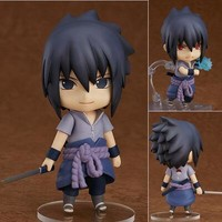 10cm Naruto Uchiha Sasuke Anime Action Figure PVC New Collection figures toys Collection for Christmas gift