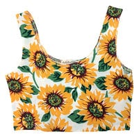 Sunflower Crop Tank