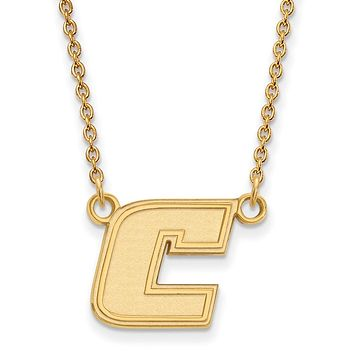 NCAA 14k Yellow Gold U of Tennessee Chattanooga Sm 'C' Necklace