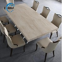 Modern Marble Shine Dining Table Set
