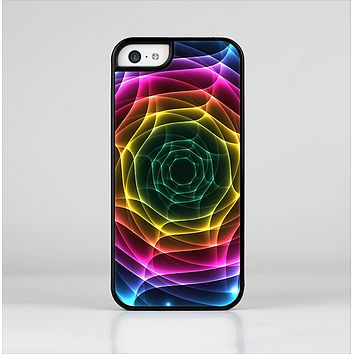 The Rainbow Neon Translucent Vortex Skin-Sert Case for the Apple iPhone 5c