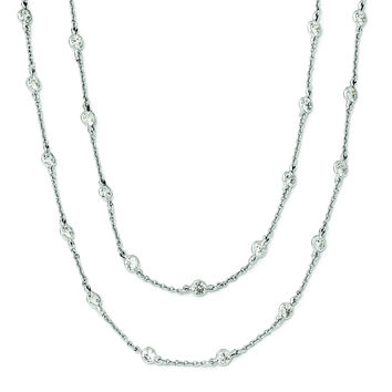 Cheryl M Sterling Silver CZ Necklace QCM701
