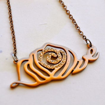 My Last Rose Necklace