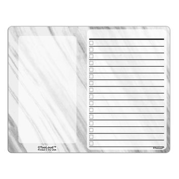 White Marble Pattern To Do Shopping List Dry Erase Board All Over Print by TooLoud