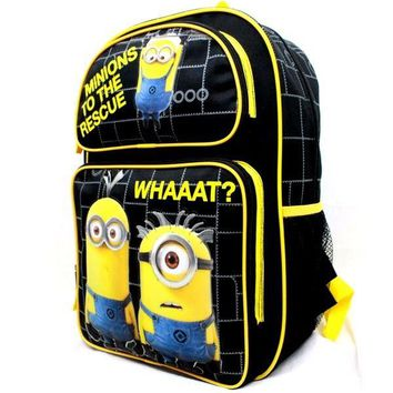 "Despicable Me Minions 16"" Blue School Backpack - Minions To the Rescue. Whaaat?"