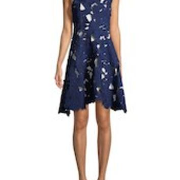 Aia Lace Fit-and-Flare Dress by Max Mara at Gilt