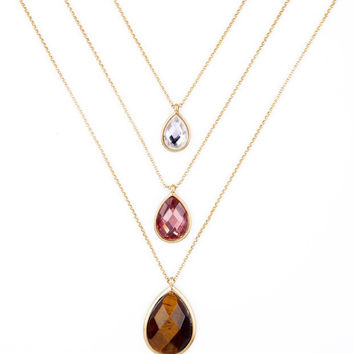 Layered Teardrop Delicate Necklace