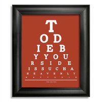 The Smiths, To Die By Your Side Is Such A Heavenly Way To Die Eye Chart, 8 x 10 Giclee Print BUY 2 GET 1 FREE