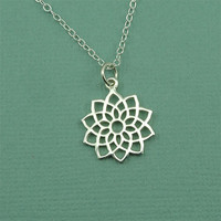 Crown Chakra Necklace - sterling silver hindu yoga necklace - buddhist jewelry - gift