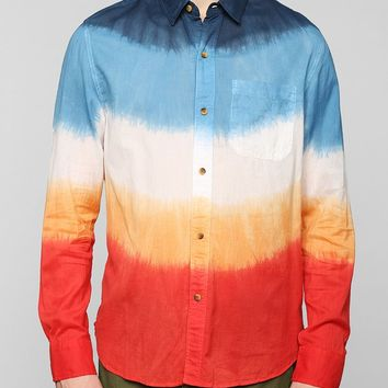 Koto Ombre Dip-Dye Breezy Button-Down Shirt - Urban Outfitters