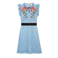 Gucci Embroidered cluny lace dress